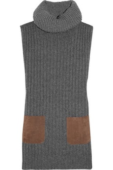 JIL SANDER  Sleeveless cashmere turtleneck sweater-- I love a good sleeveless turtleneck- cashmere is a bonus!