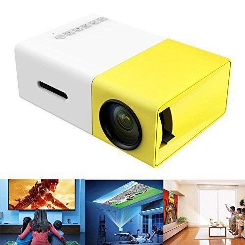 "Home Movie Cinema Theater Projector Mini Portable LED Projector USB 100"" Screen #HomeMovieCinemaTheaterProjector"