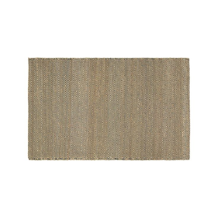 Couristan Ambary Tansy Trellis Jute Blend Rug, Brown