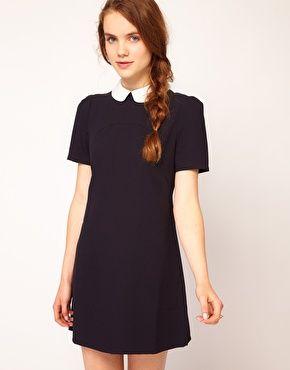 Dahlia Flower Collar Shift Dress