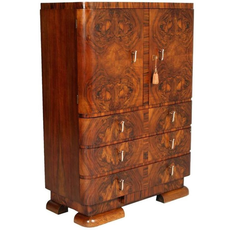 1930s Art Deco Cabinet Dresser In Burl Walnut By Crafts Cantu Furniturefurniture Storagebedroom