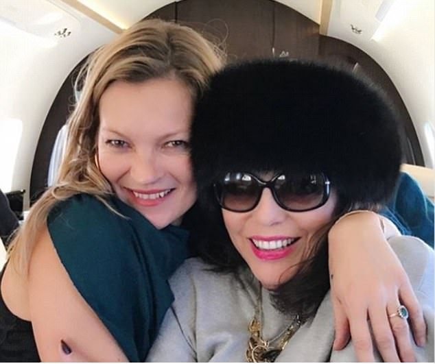 Hedonistic supermodel Kate Moss has been sucking up to Dame Joan Collins since meeting the...