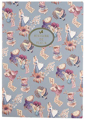 ピレアグラウカ ノート A5 パターン アリス 『不思議の国のアリス』の雑貨シリーズ アリス・イン・ワンダーランド   - SelectShop W