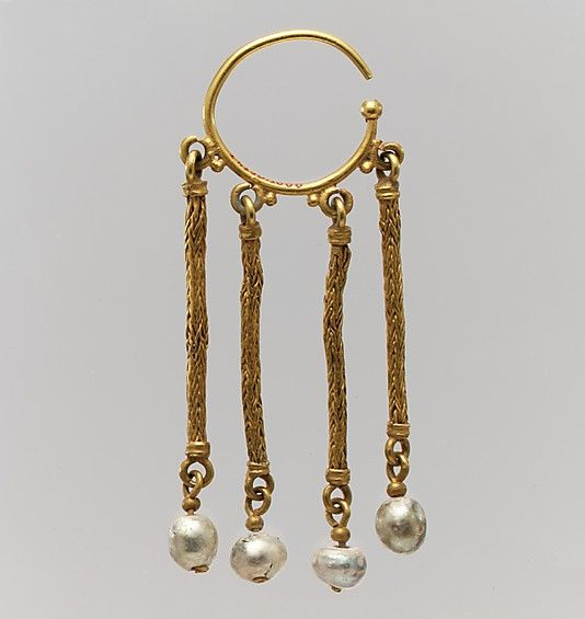 Gold & Pearl Earring - Byzantine - 6th-7th century
