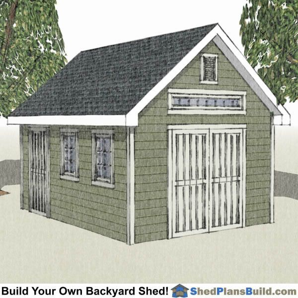 12x16 Traditional Victorian Garden Shed Plan