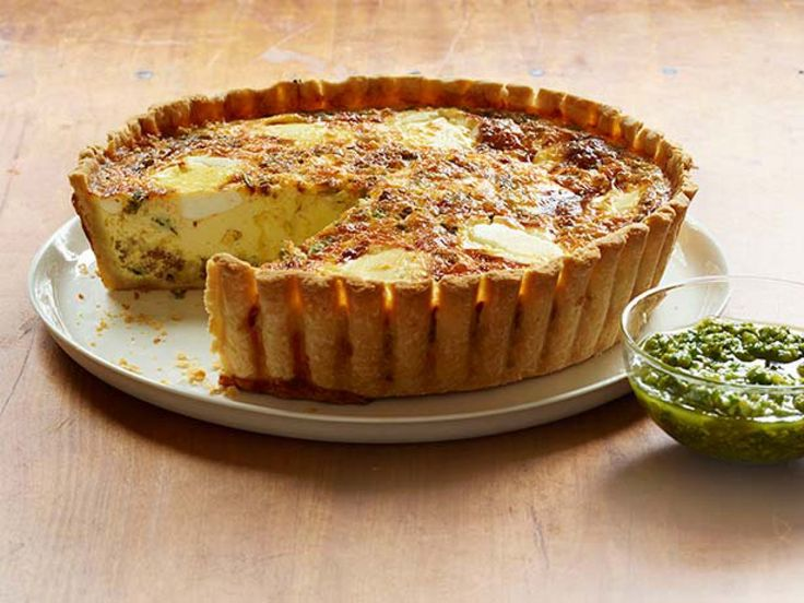Get this all-star, easy-to-follow Chorizo and Goat Cheese Quiche recipe from Bobby Flay