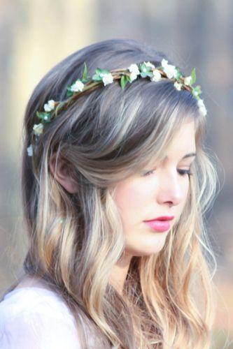 coroa de flores delicada