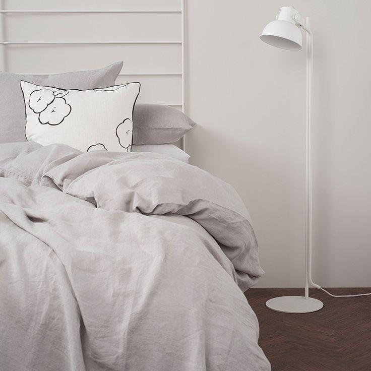 Sove Linen Duvet Cover - Ash