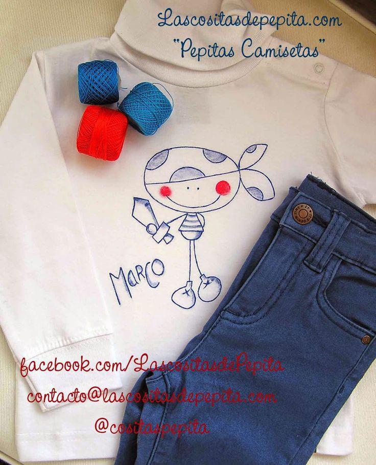 """Las cositas de Pepita: """"Camisetas Pepita"""" pintadas a mano"""