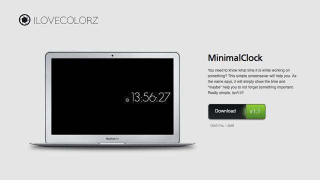 MinimalClock 為 Mac 加入簡約風時鐘螢幕保護程式   Simple