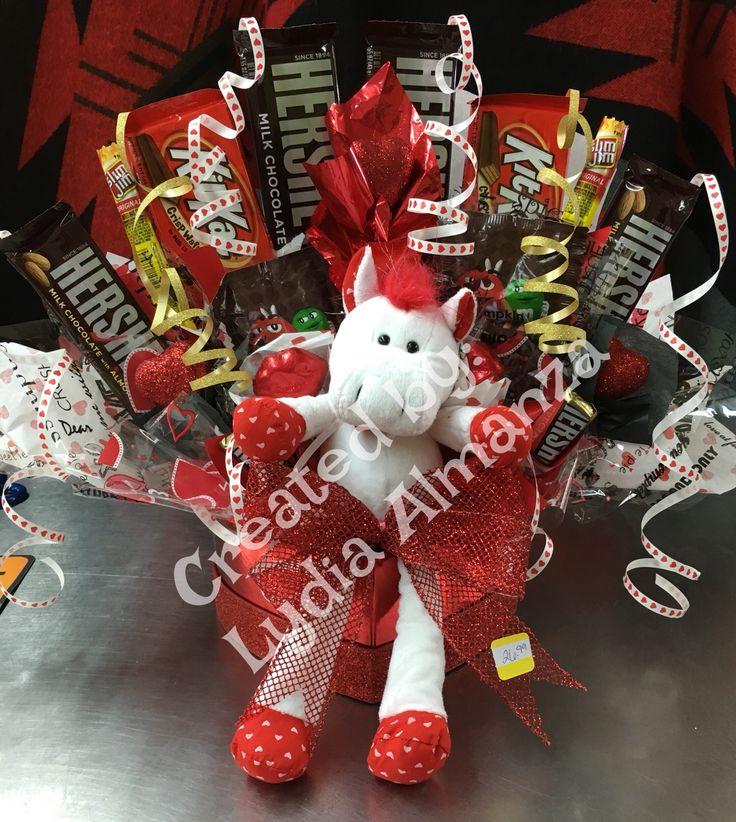 Valentine Candy Bouquet | My Creations!! | Pinterest ...
