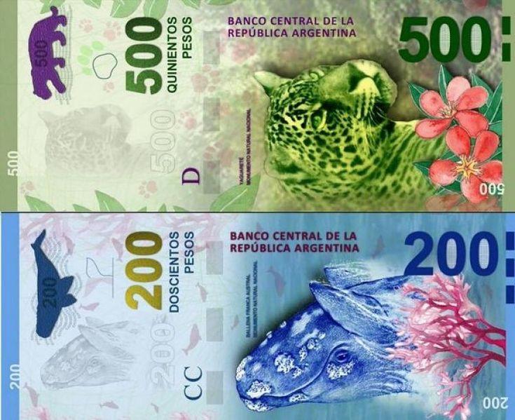 El Banco Central anunció nuevos billetes de 200 y de 500 con figuras de animales - Política Argentina