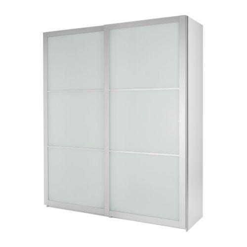 Ikea Kleiderschrank Weiß Mit Schiebetüren ~ PAX Kleiderschrank mit Schiebetüren  weiß, 200x66x201 cm  IKEA