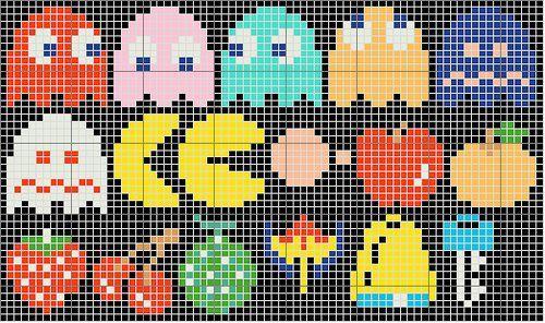 Gráfico Ponto Cruz da semana - Ponto Cruz Nerd - Pac Man ~ Arte De Fazer