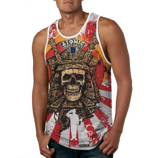 Men Fashion Tank Top Skeleton Japan Hiroshima - Anti UV #HoomanDesign #TankTop #japan #fashion #apparel #tshirt #war #sushi #ebay