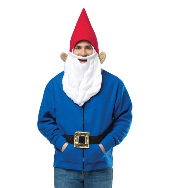 adult gnome hoodie costume costumes wigs theater makeup and accessories