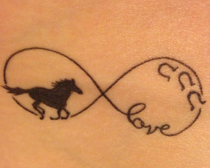 Infinity horse love tattoo