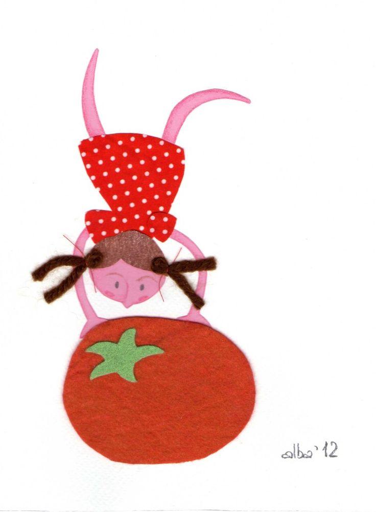 A nosaltres també ens agrada molt el tomàquet! - #Illustration by albacalaf.com