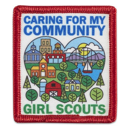 """1 7/8"""" x 2 1/8"""" Photo Patch. All Fun Patches are unofficial and are not to be worn on the front of the Girl Scout sash, vest or tunic. All fun patch designs are exclusively owned by Girl Scouts of the USA."""