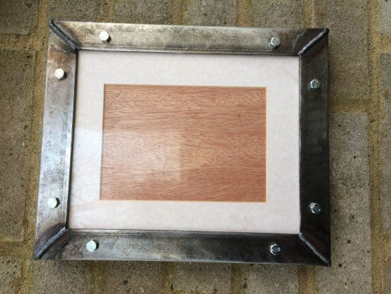 "Industrial handmade welded metal steel picture frames - 29cm x 24cm / 11"" x 9"" - free postage to uk - Custom sizes available at request"