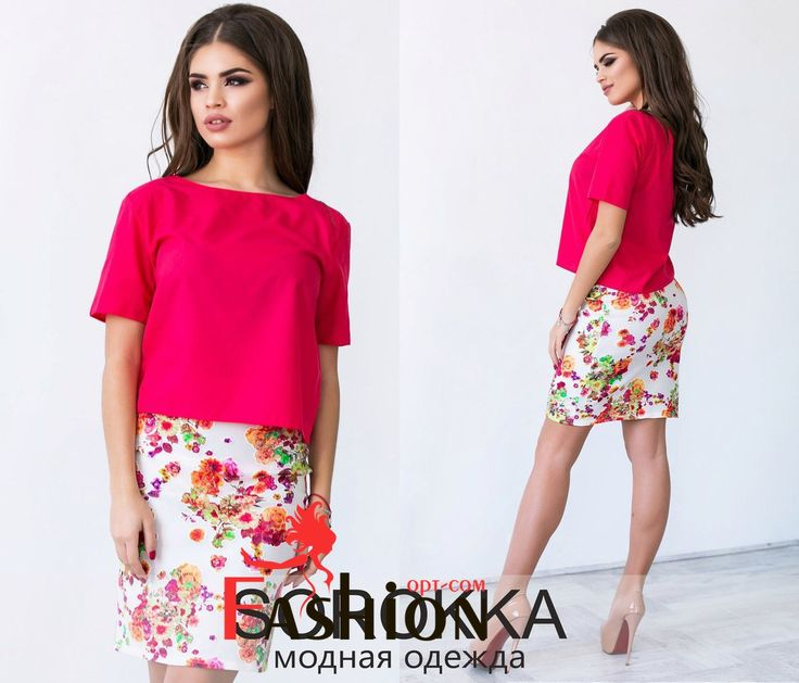 ❤️9️⃣1️⃣1️⃣руб❤️ Костюм юбка цветы 3479 Размер: S; M Производитель: Sorokka Ткань: Неопрен;Органза;Штапель Длина: Мини