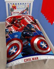 MARVEL COMICS ~ 'Civil War' Single Bed Reversible Quilt Set