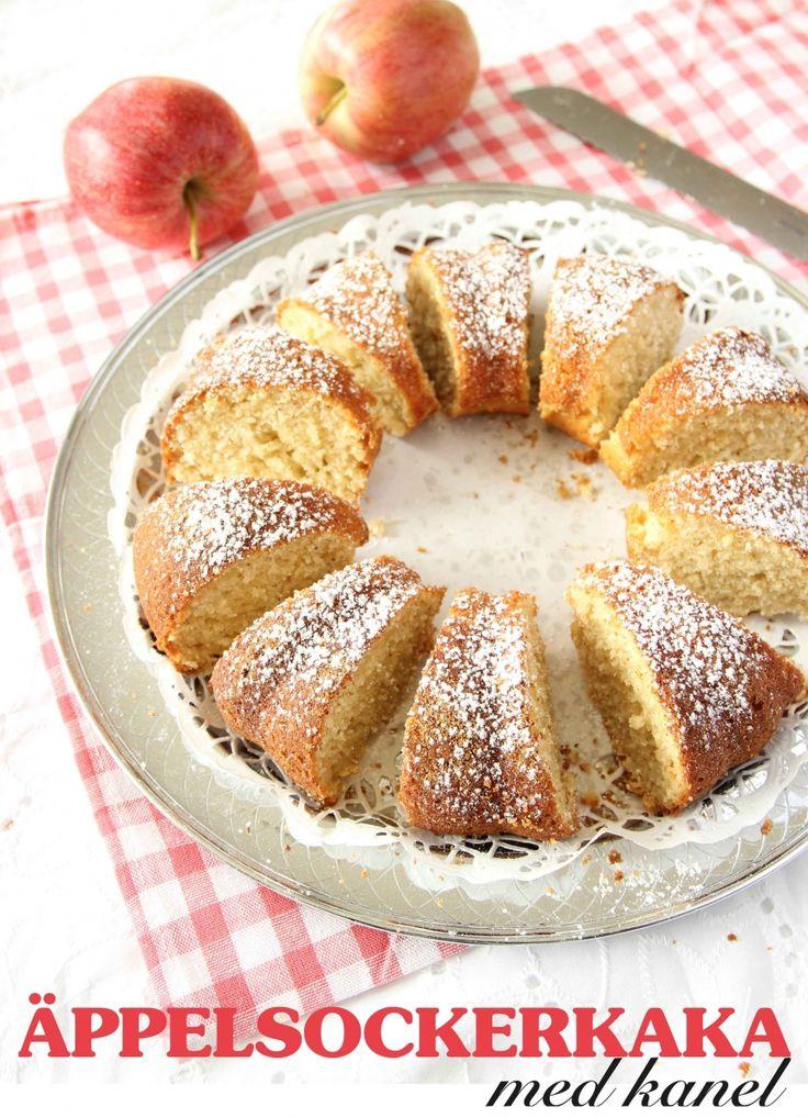 Äppelsockerkaka med kanel   Tidningen Hembakat
