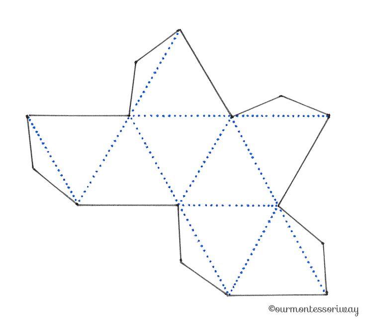 Druckvorlage für das Oktaeder Mobile