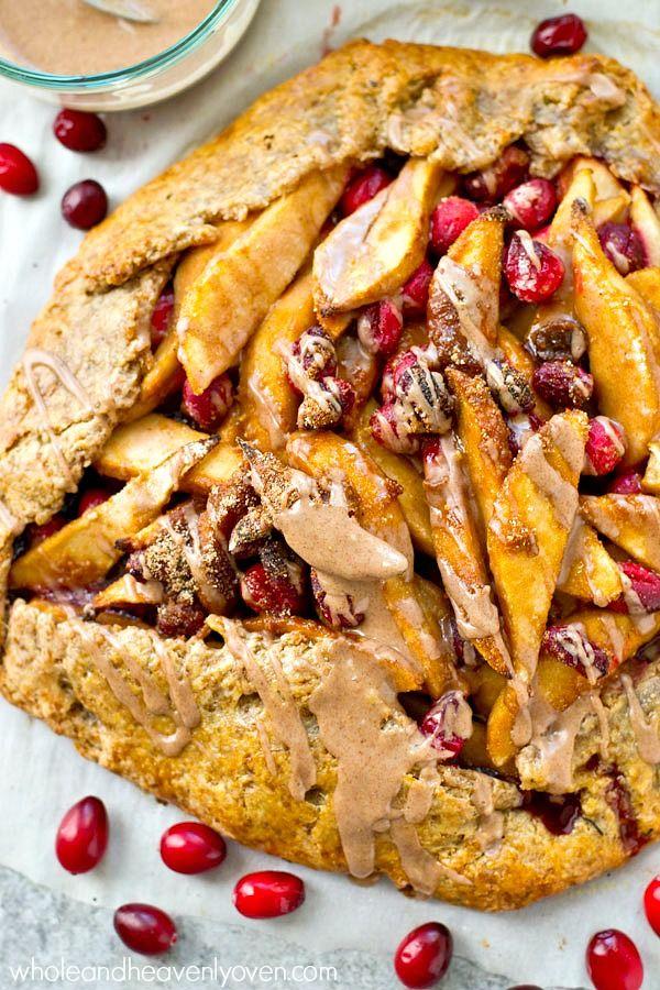 Pear Cranberry Galette with Chai Glaze | Recipe