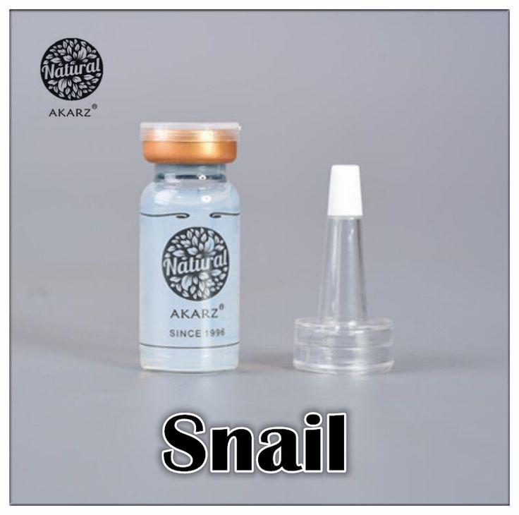 Famous brand AKARZ Snail serum extrace essencel face Snail extract serum ampoules anti-acne Rejuvenation Serum beauty makeup