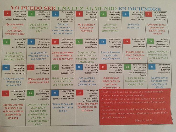 Calendario Ilumina el Mundo para niños sud