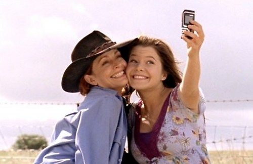 Stevie  Rose - McLeods Daughters, love. 'selfie', Great tv, show, mother and daughter.