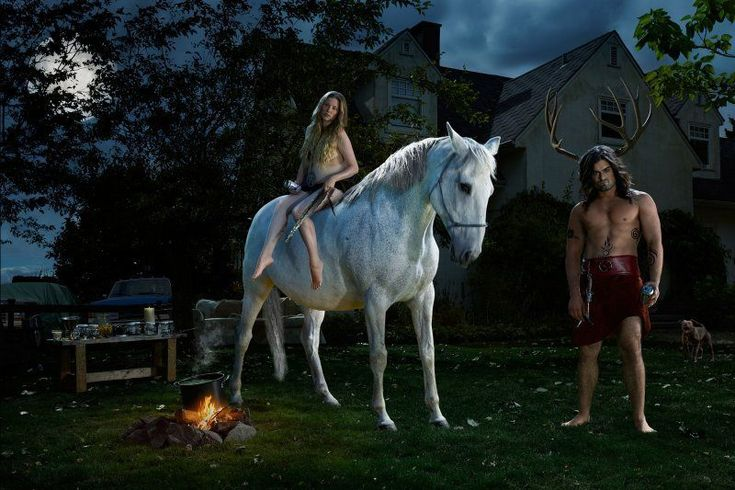 """Wicca """"Gods of Suburbia"""": Dina Goldstein's Arresting Photo Series Featuring Ancient Gods in Modern-Day Scenarios • Page 3 of 6 • BoredBug"""