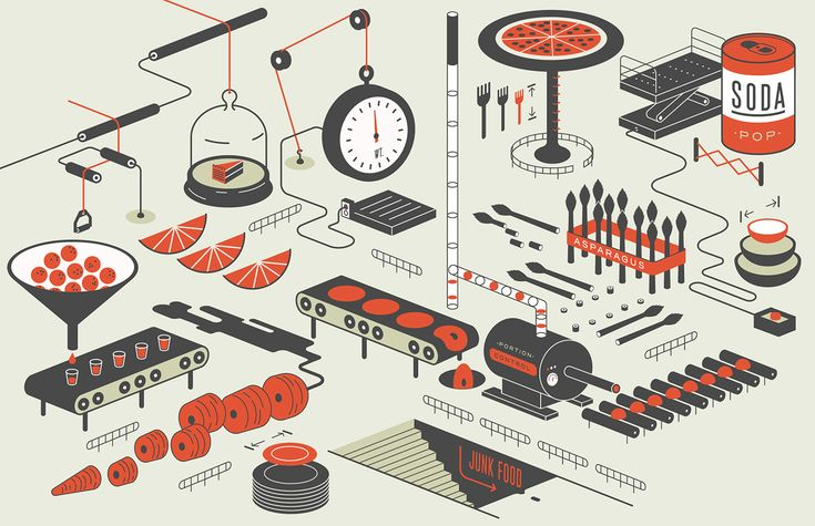 Editorial illustration for Bon Appétit by Mike McQuade