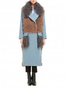 Пальто с мехом колгана