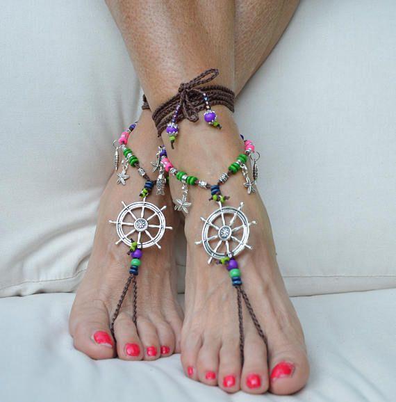 BAREFOOT sandals NAUTICA NAVE Timone Stella cavigliera