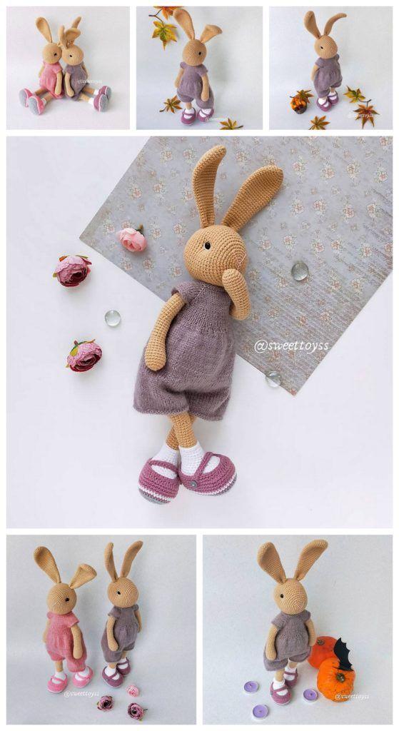 Amigurumi Bunny- Free Pattern   Crochet toys free, Crochet ...   1024x559