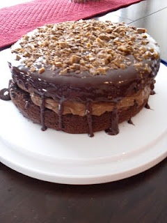 Pretty sure this Chocolate Mousse Crunch Cake can make any bad day into a good one.