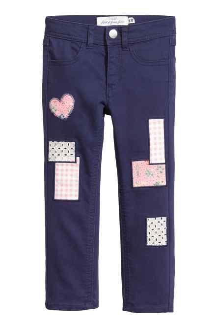 Pantaloni din twill cu petice