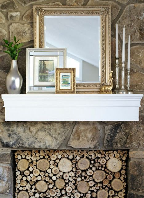 Goodbye ugly mantel hello lovely updated one!! How to build a mantel for around $30! This is great!