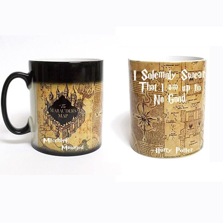 Drop shipping.wholesale price Harry Potter Mug color changing Marauders Map mug mischief managed mug morphing coffee mugs