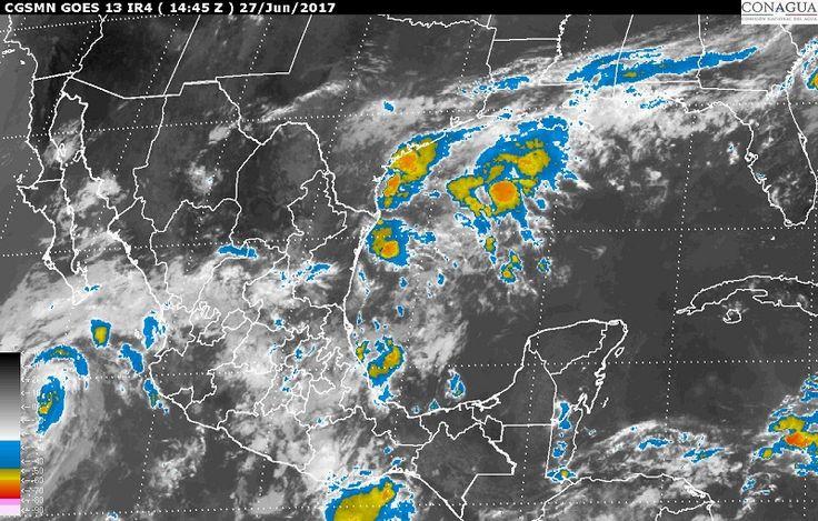El pronóstico para hoy, martes, indica la posibilidad de tormentas intensas en zonas de Guerrero, Oaxaca, Chiapas, Veracruz y Puebla, tormentas muy fuertes en regiones de Tamaulipas, Michoacán, Tlaxcala, Estado ...