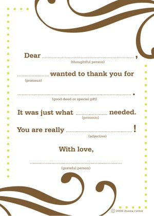 8 best Wedding Thank Youu0027s images on Pinterest Mad libs, Thank - free thank you card template for word