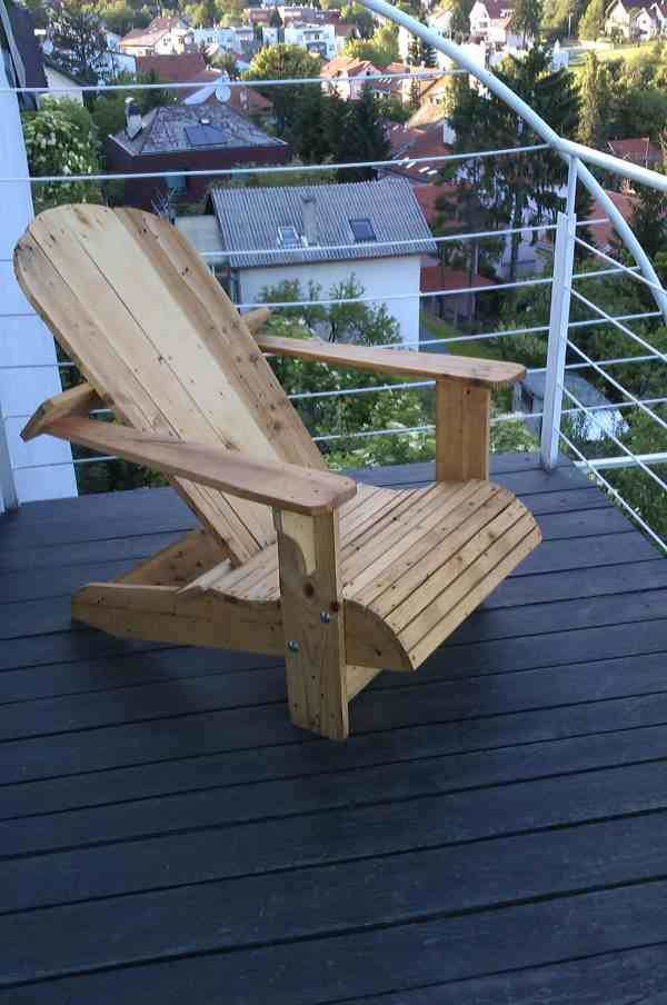 Adirondack Chair From Repurposed Euro Pallet Benches & Chairs