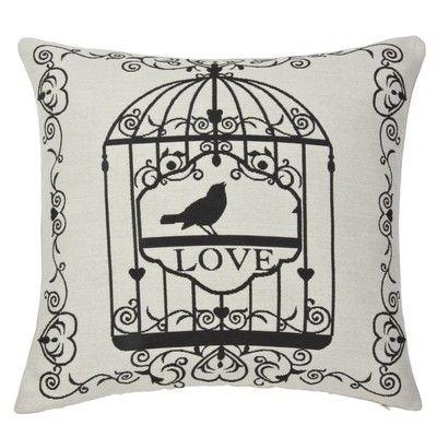 Bird Cage Filled Cushion Natural