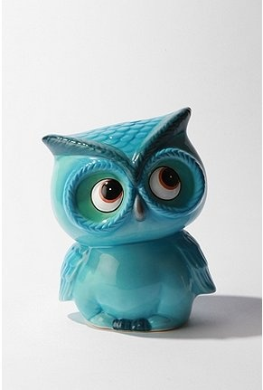 cute little turquoise owl: Ceramics Owl, Urban Outfitters, Urbanoutfitt, Little Owl, Hoot Hoot, Leo, Piggy Banks, Things, Owl Banks