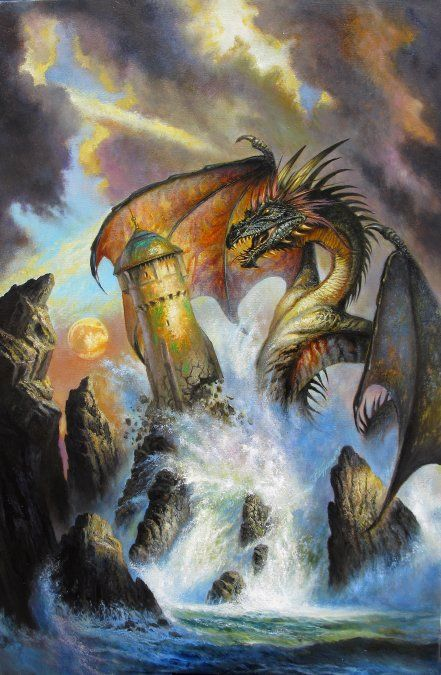 'dragon's ring' by bob eggleton.  the dragon artist in my humble opinion.