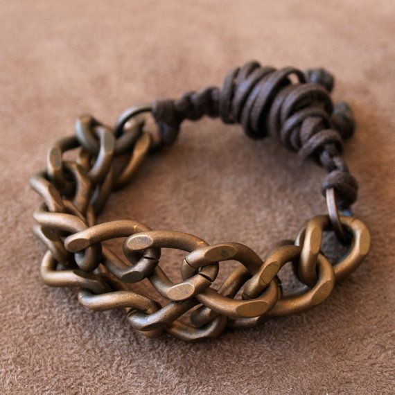 Vintage Solid Brass Chain Bracelet. Will someone give me a gift like these? #hard
