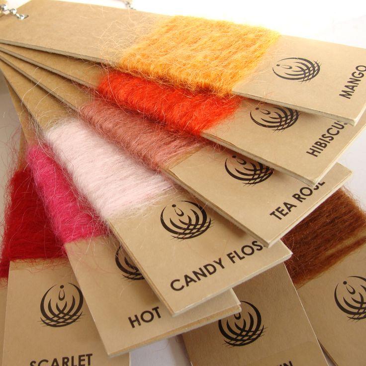 Orange Mohair throw blankets, plus Candy Floss & Mango