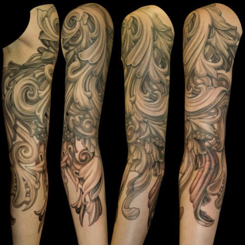 filigree tattoo sleeve tattoo inspiration pinterest beautiful sleeve and awesome. Black Bedroom Furniture Sets. Home Design Ideas